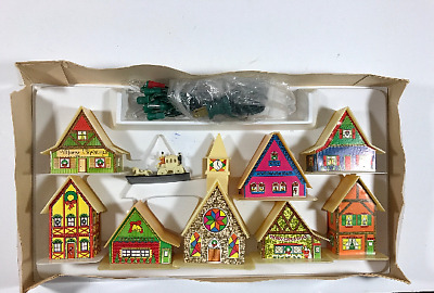 Belco Lites Vintage Christmas Village Plastic light up houses town Holidays