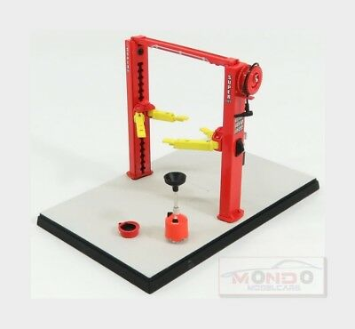 Set Officina Ponte Sollevatore Auto Twin Post Lift Red Yellow Gmp 1