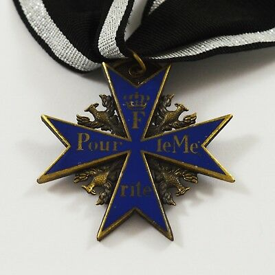 Full Size Replica Pour Le Merite Medal with Ribbon Germany/Prussia WW1 WW2