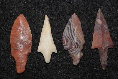4 better Sahara Neolitic /Mesolithic variety points with color