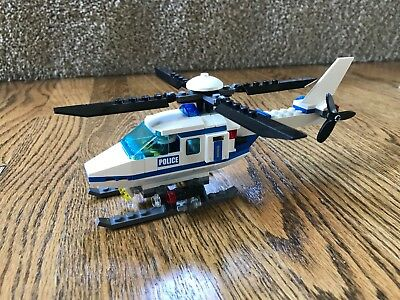 Lego 7741 City Town Police Helicopter With Figure And Instruction