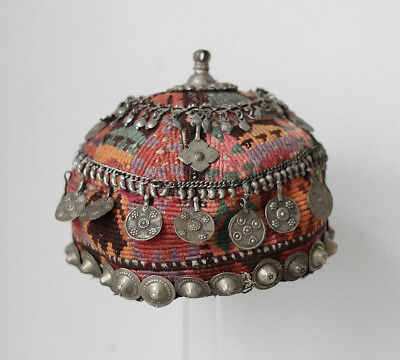 Antique Central Asia Turkoman wedding headdress,