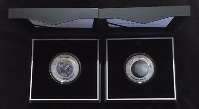 2018 & 2019 Earth and Beyond: The Earth and The Moon 1oz Silver Proof Coins