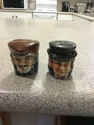 Vintage Japan Toby Jug Miniature Salt Pepper Shakers