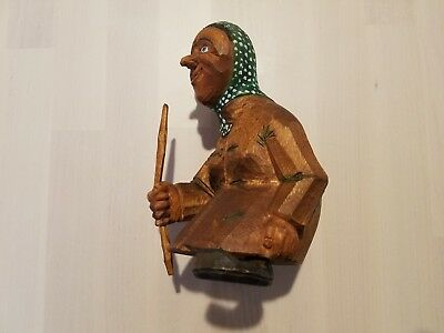 Handcarved Hand Carved Troll Woman Norway SIGNED Oien 1980  FREE SHIPPING