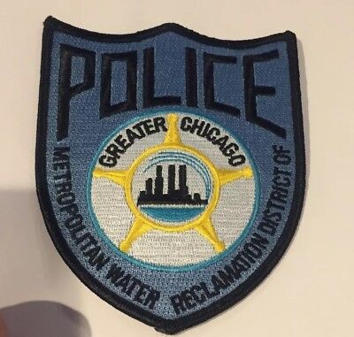 Rare Chicago Metro Water Reclamation District Of Greater Chicago POLICE PATCH