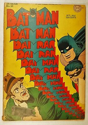 """Batman #31 (Oct-Nov 1945, DC) """"Punch and Judy"""" """"Trademarks of Crime!"""""""
