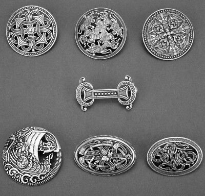 Legendry Nordic Vikings Celtic knots ship Amulet Fibula Brooch Pin