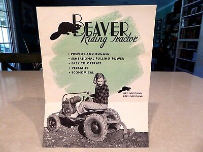 1949 Beaver Riding Tractor Brochure Catalog Price List lot of 4 pieces