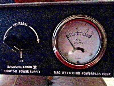 Bausch and Lomb Electro Powerpac 100W T-H Power Supply, Model 1191