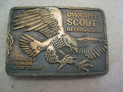 Owasippe Scout Reservation Boy Scout Belt Buckle 1976 Chicago Area Council BSA
