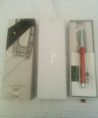 FABER CASTELL AMBITION PEAR WOOD WITH CHROME PLATED FINISH FOUNTAIN PEN Medium