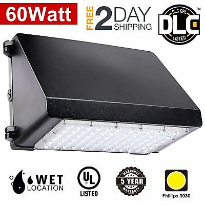 LED Wall Pack Light UL DLC Listed 60W 7200lm Area Light 300W Hps/HID Replacement