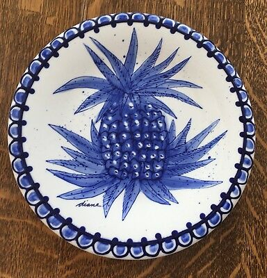 "Diane Nwot ""Come Dream With Me"" Beautiful New Pineapple Plate.  2002. Very Rare."