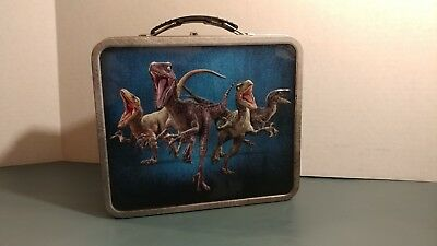 Jurassic World Tin Metal 2015 Lunchbox Jurassic Park Collectible Universal