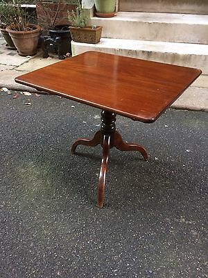 Edwardian Mahogany Rectangular Occasional Snap Top Table