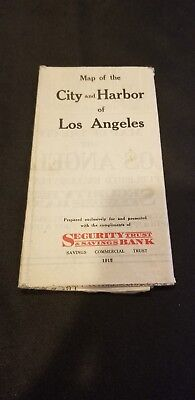 1915 Map of the City & Harbor of Los Angeles   Provided by Savings Com.Trust