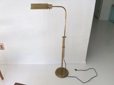 Frederick Cooper Br Floor Lamp Vintage Reading Pharmacy Adjule Mid Mod
