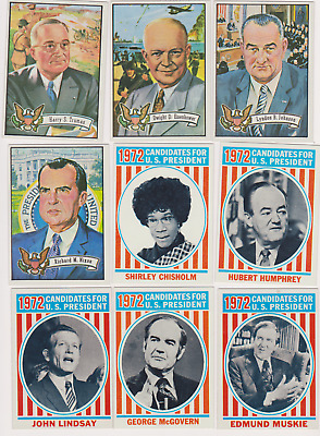 Straight out of the Pack-MT 1972 Topps U.S. Presidents PICK ONE /MULTIPLE CARDS