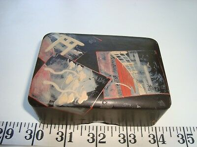Antique Japanese Paper Mache Lacquer Box from Meiji Period