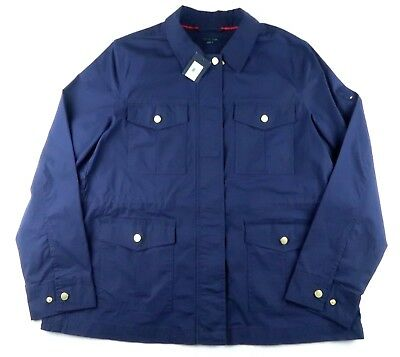 NWT Tommy Hilfiger Womens Size XL Jacket Coat Navy Blue TRACKED SHIPPING