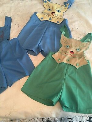 Vintage Clothi Boys Shorts With Bib Handmade Never Worn 4 Sold Together