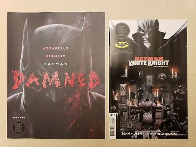 BATMAN DAMNED #1 Uncensored 1st Print DC Black Label AND Batman Day Preview Copy