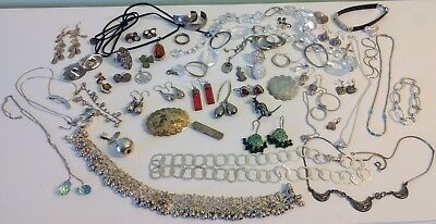 Sterling Silver Jewelry Mixed Lot # 1 252+ grams!