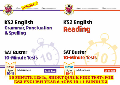 Ks2 Sat Busters English 10 Minute Tests 2 Fab Books For Quick Practice Bundle 2