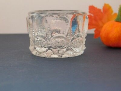 EAPG Thompson Glass Co BOW TIE Open Salt Dip Cellar Ca 1890 H&J #2548 SCARCE