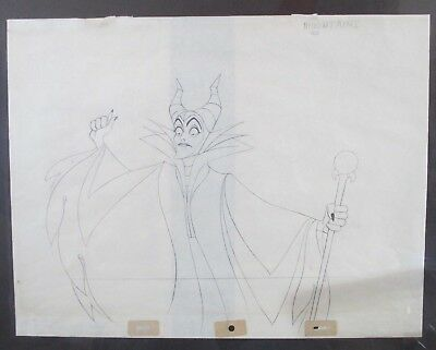 1959 Walt Disney Sleeping Beauty Maleficent Production Animation Drawing