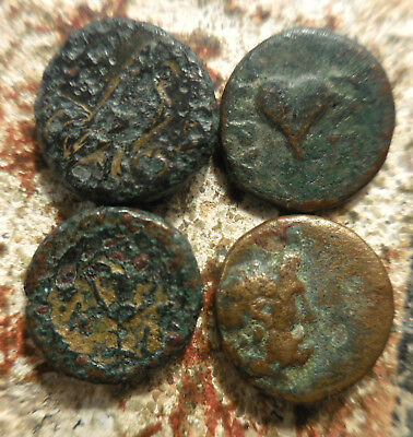 Lot of 4 VF Ancient Greek Coins, Philetairos, Also Dardanos Rooster & Horseman!