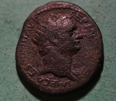 *Tater* Roman Imperial ae25 Bronze Coin  of Domitian  JUDAEA CAPTA  PALM TREE