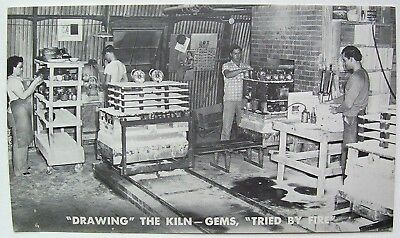 Vintage Frankoma Sapulpa Oklahoma Pottery Factory Postcard Drawing The Kiln