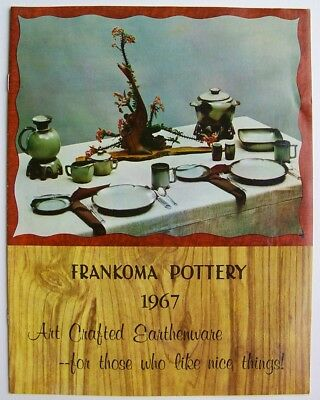 Vintage 1967 Frankoma Sapulpa Oklahoma Pottery Price Guide Photo Catalog