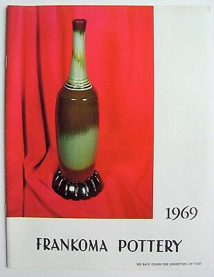 Vintage 1969 Frankoma Sapulpa Oklahoma Pottery Price Guide Photo Catalog