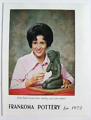 Vintage 1972 Frankoma Sapulpa Oklahoma Pottery Price Guide Photo Catalog