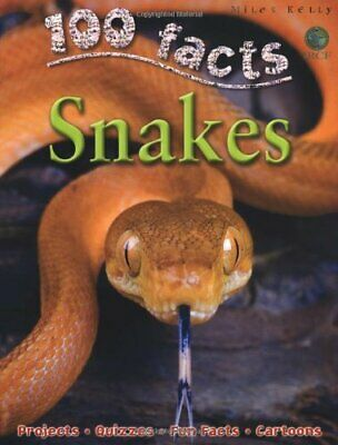 100 Facts Snakes by Barbara Taylor Paperback Book The Cheap Fast Free Post