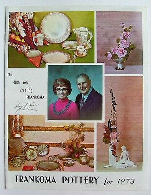 Vintage 1973 Frankoma Sapulpa Oklahoma Pottery Price Guide Photo Catalog