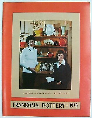 Vintage 1978 Frankoma Sapulpa Oklahoma Pottery Price Guide Photo Catalog