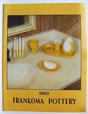 Vintage 1980 Frankoma Sapulpa Oklahoma Pottery Price Guide Photo Catalog