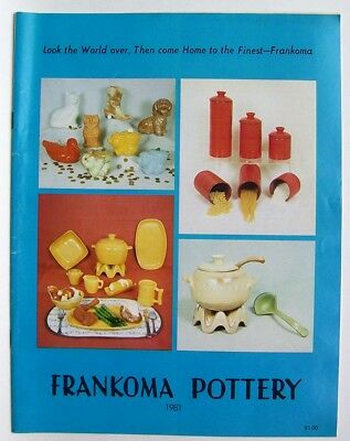 Vintage 1981 Frankoma Sapulpa Oklahoma Pottery Price Guide Photo Catalog