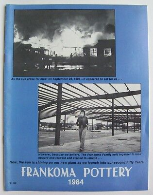 Vintage 1984 Frankoma Sapulpa Oklahoma Pottery Price Guide Photo Catalog