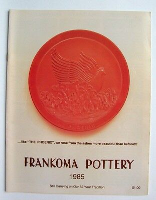 Vintage 1985 Frankoma Sapulpa Oklahoma Pottery Price Guide Photo Catalog
