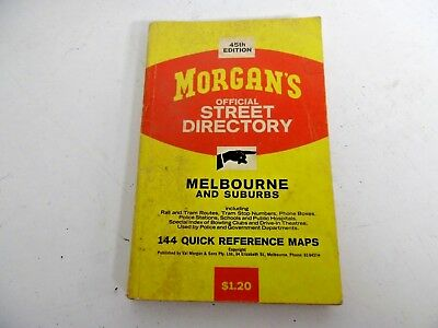 Morgans Street Directory Melbourne 45 Th Edition Pocket Size