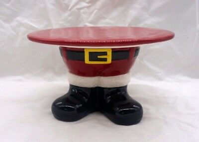 Santa Legs Cake Stand Holly Hill Farms Holiday Collection Dessert Holder