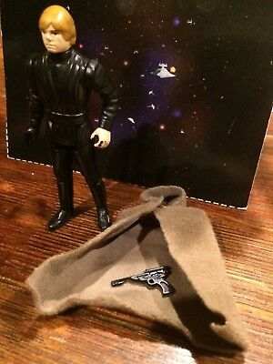 1983 VINTAGE STAR WARS LUKE SKYWALKER FIGURE w ORIGINAL ROBE Repro Blaster LOT