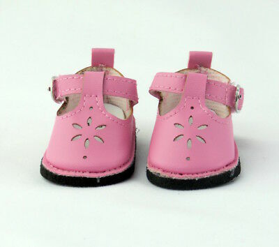 """Pink Flower Mary Jane Dress Shoes Fits 18"""" American Girl Doll Clothes Shoes"""