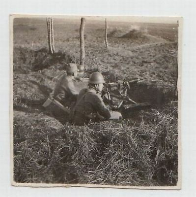 p3 WWⅡ Japanese army Photo soldiers with machine gun in China battlefield