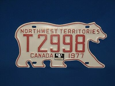 1977 Northwest Territories License Plate with 1978 Reg Sticker - NO RESERVE!!
